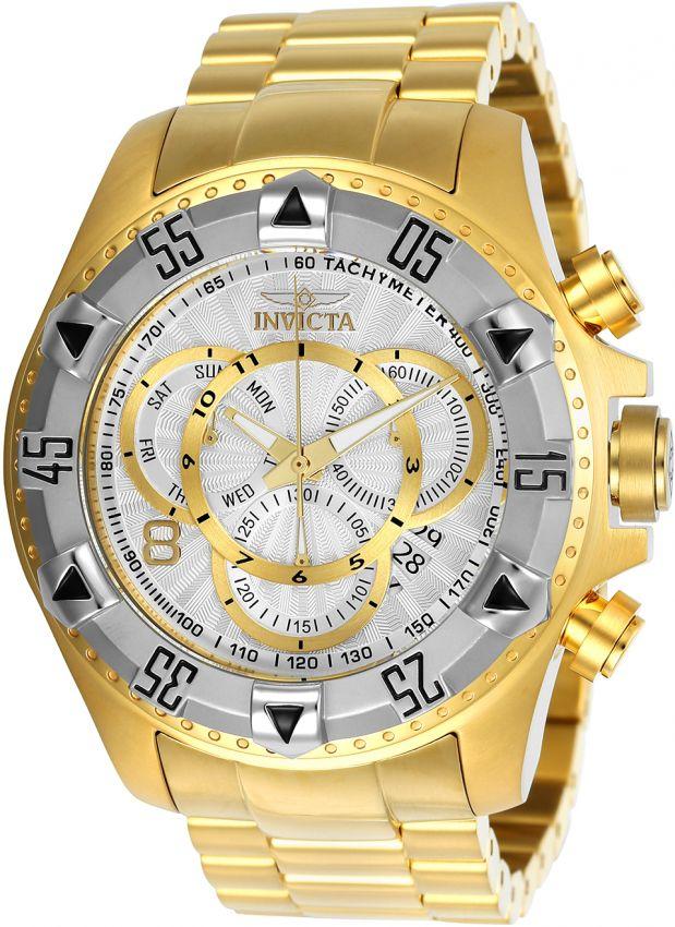 34f452e5b3c Relógio Invicta Excursion Reserve 24264 Banhado Ouro 18k Cronografo 52mm