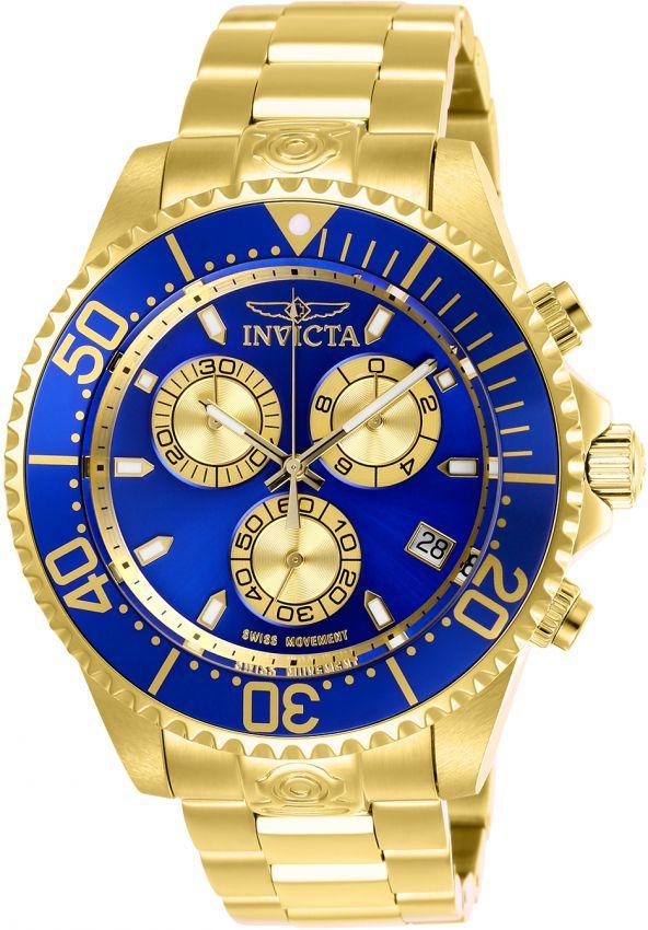 86beead5ee9 Relógio Invicta Grand Diver 26849 Cronografo 47mm Banhado Ouro 18k 300m