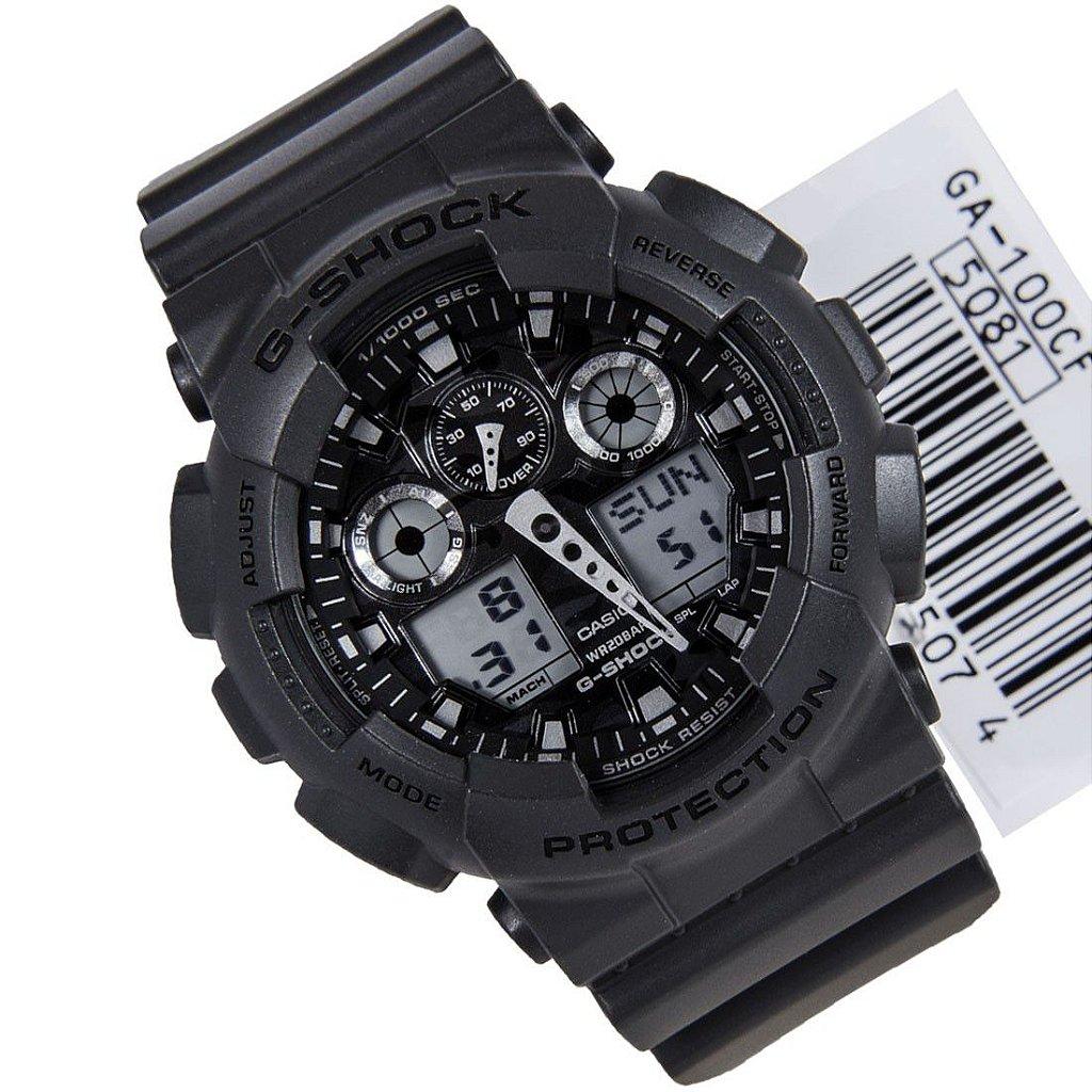 877f69e4fed ... Relógio Casio G-Shock GA-100CF-8ADR Resina Camuflado Masculino Digital    Analógico ...