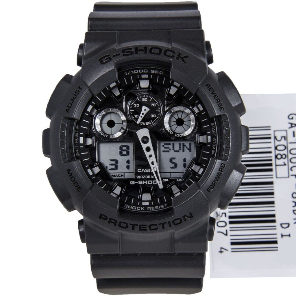 3636f9435bf Relógio Casio G-Shock GA-100CF-8ADR Resina Camuflado Masculino Digital    Analógico