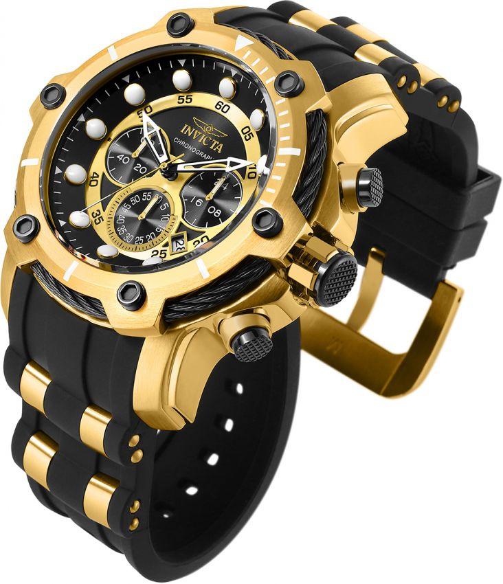 dc2ebb91862 ... Relógio Invicta Bolt 26751 Lançamento 51.5mm Cronografo Banhado Ouro  18k VD53 - Imagem 2 ...