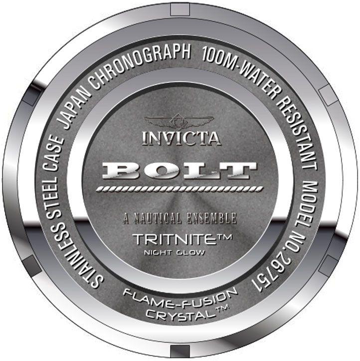 c576055384d ... Relógio Invicta Bolt 26751 Lançamento 51.5mm Cronografo Banhado Ouro  18k VD53 - Imagem 4