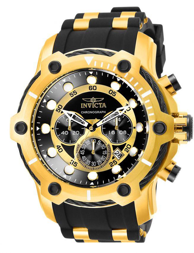 c0b02bdd953 Relógio Invicta Bolt 26751 Lançamento 51.5mm Cronografo Banhado Ouro 18k  VD53