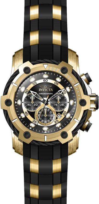 d77d5ead620 ... Relógio Invicta Bolt 26751 Lançamento 51.5mm Cronografo Banhado Ouro  18k VD53 - Imagem 3 ...