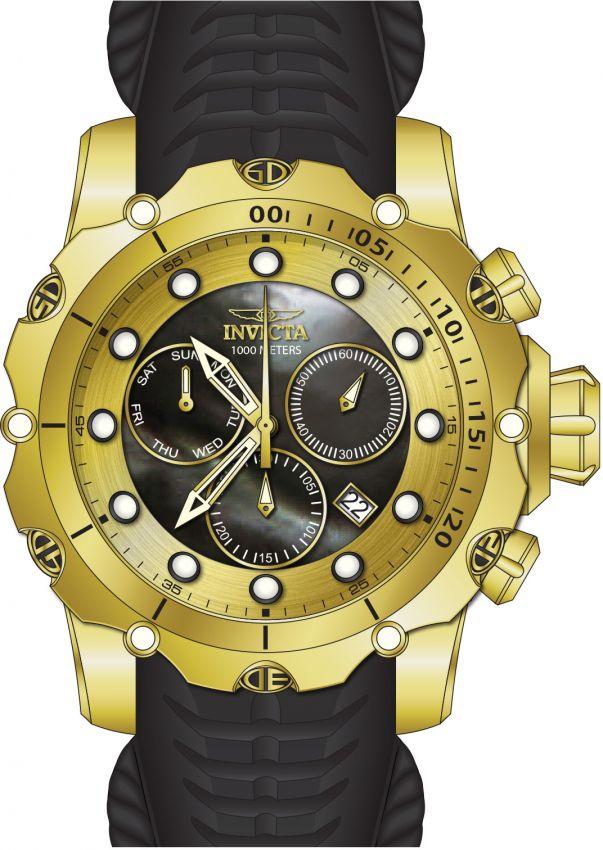 a692e453768 ... Relógio Invicta Venom Sea 20401 Calendário Duplo 55m Banhado Ouro 18k -  Imagem 2 ...