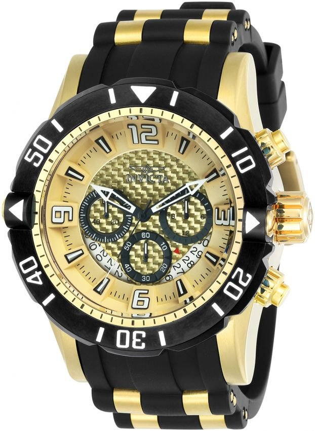 c7bc403ea61 Relógio Invicta Pro Diver 23705 Cronografo 50mm Banhado Ouro 18k