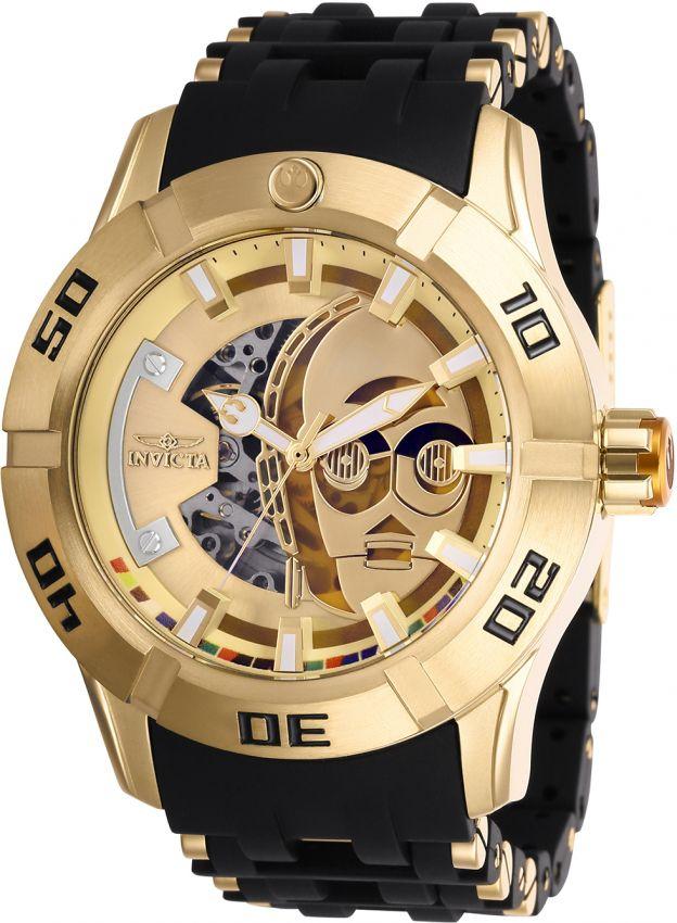 aa94b85fa3b Relógio Invicta Star Wars 26550 Banhado Ouro 18k Automático 50mm ...
