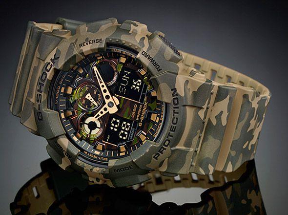 0a086440e0c ... Relógio Casio G-Shock GA-100CM-5 Camuflado Masculino Digital    Analógico W ...