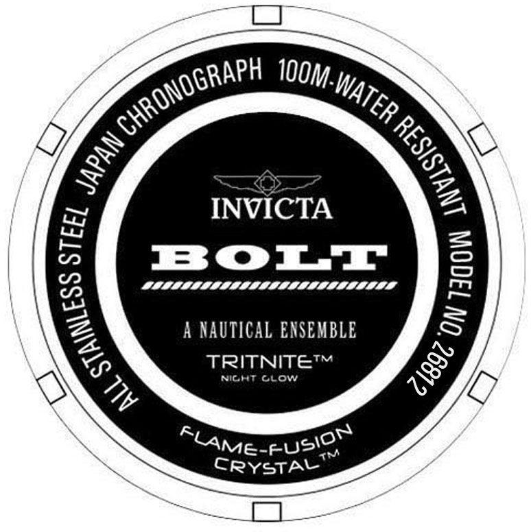 30e733afd90 ... Relógio Invicta Bolt 26812 Cronografo 51.5mm Banhado Ouro 18k - Imagem 3