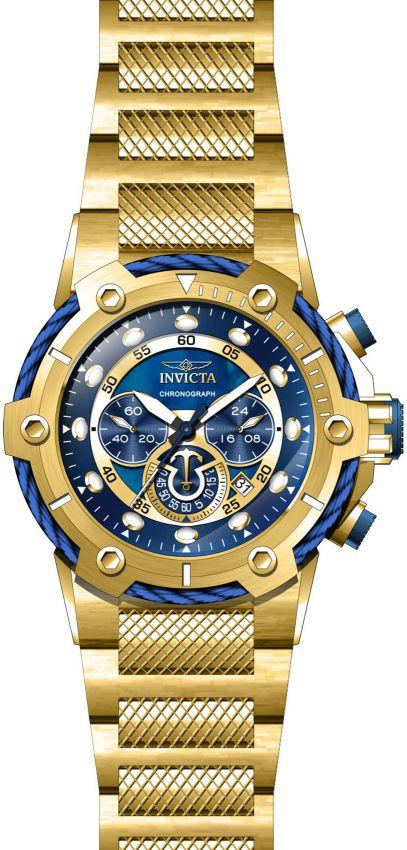 8d0c1f56652 ... Relógio Invicta Bolt 26812 Cronografo 51.5mm Banhado Ouro 18k - Imagem  2 ...