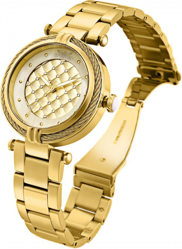 a9897ef0a0e ... Relógio Invicta Bolt Lady 28927 Dourado 38mm Banhado Ouro 18k - Imagem  2 ...