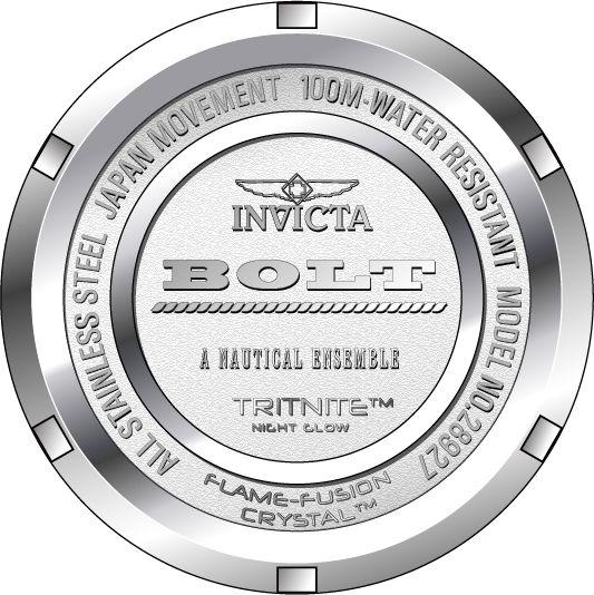 e376659b9bd ... Relógio Invicta Bolt Lady 28927 Dourado 38mm Banhado Ouro 18k - Imagem 4