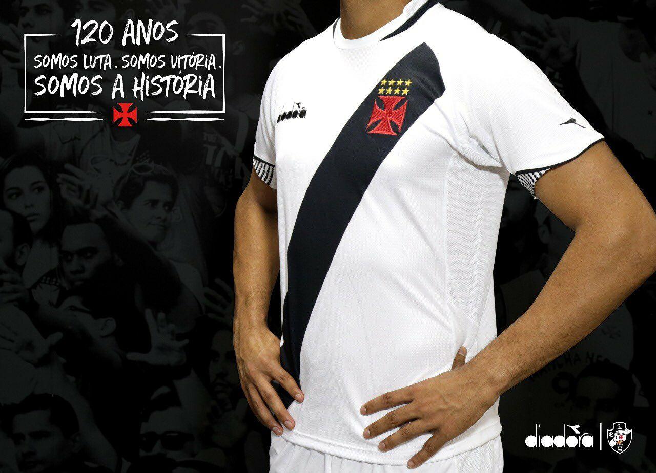 Camisa Diadora VASCO DA GAMA 18 19 Away TORCEDOR - Sandes Sports ... 33807fdced160
