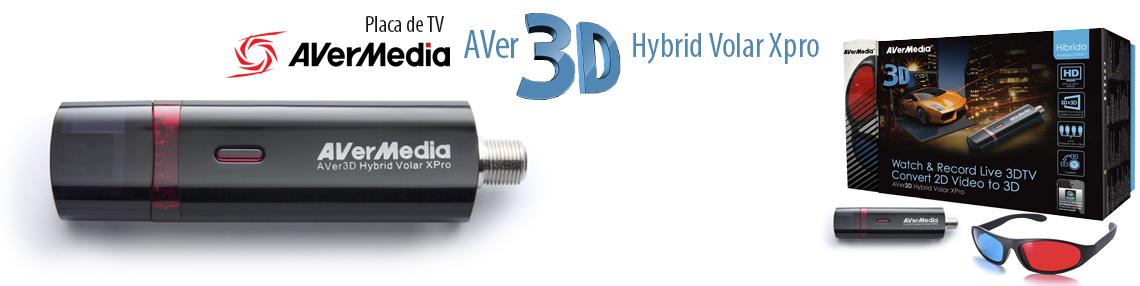 Placa de captura de TV USB AVerMedia AVer3D Hybrid Volar xPRO - H869H