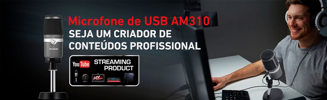 Microfone USB AM310 AVerMedia