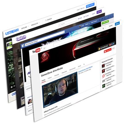 Compartilhamento de vídeos nas redes sociais AVerMedia LGP Lite