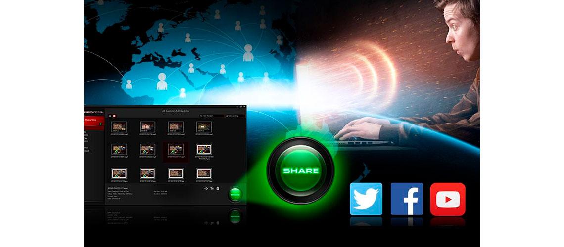 Compartilhamento de vídeos na RECentral 3 AVerMedia Live Gamer HD 2