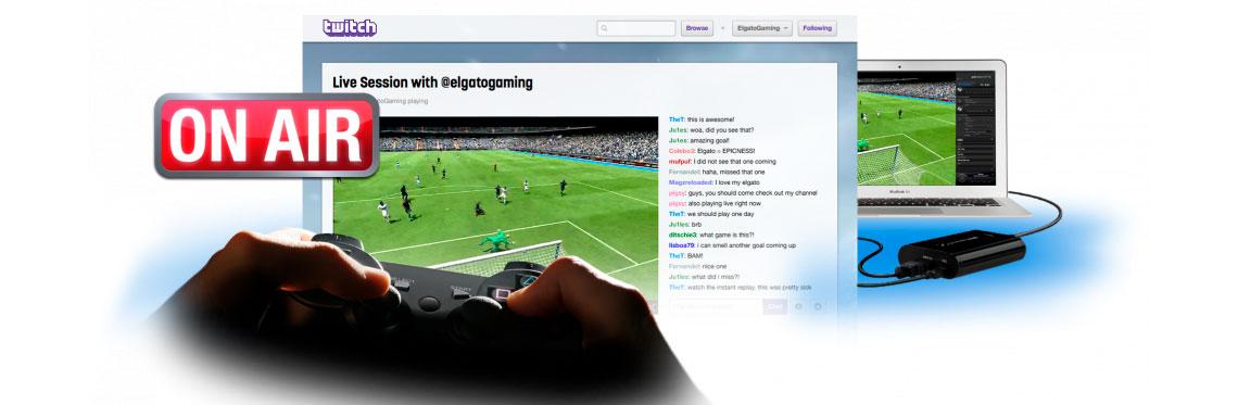 Live streaming direto no YouTube ou TwitchTv