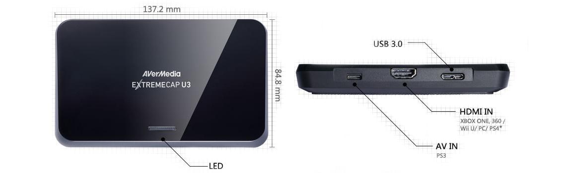Placa de captura externa HDMI Extremecap U3 - CV710