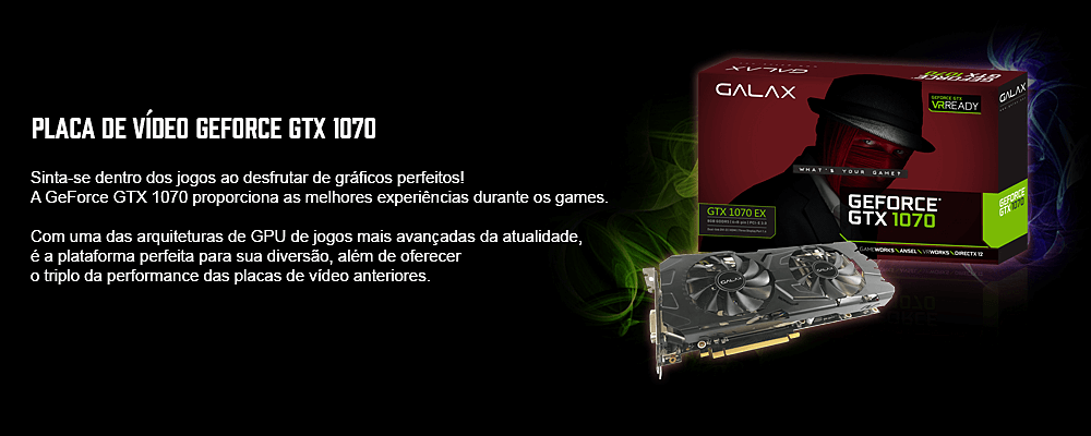 placa de vídeo para pc gamer pubg