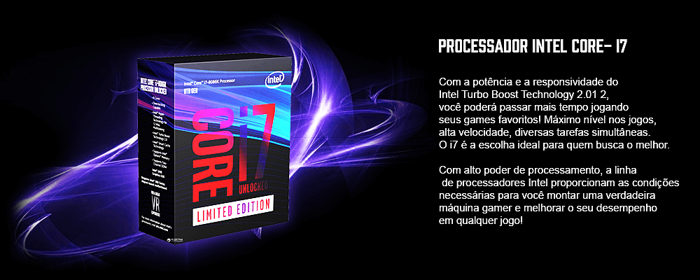 processador i7 para montar pc gamer que roda pubg