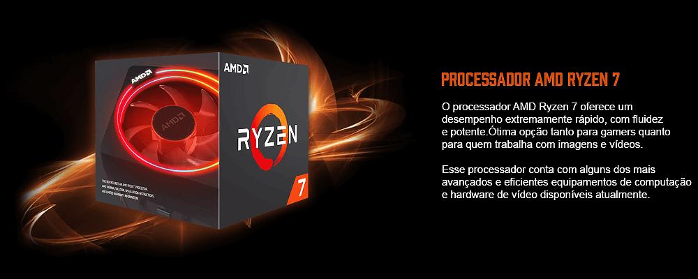processador ryzen 7 para computador gamer