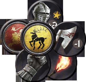 Jogo de Tabuleiro - A Guerra dos Tronos: Board Game - Fichas de Ordem