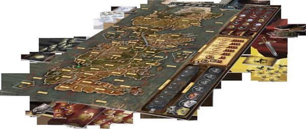 Jogo de Tabuleiro - A Guerra dos Tronos: Board Game - 3D