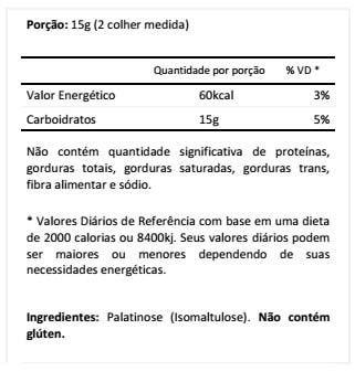 Tabela Nutricional Palatinose Black Skull