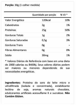 Tabela Nutricional Prostar Whey Ultimate Nutrition