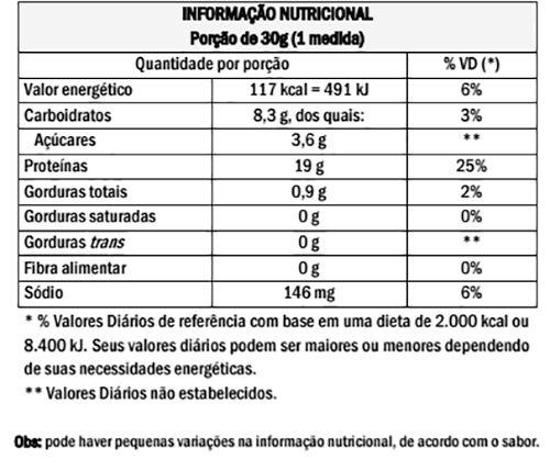 Tabela Nutricional Strong 7 Protein Probiótica