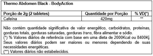 Tabela Nutricional Thermo Abdomen Black