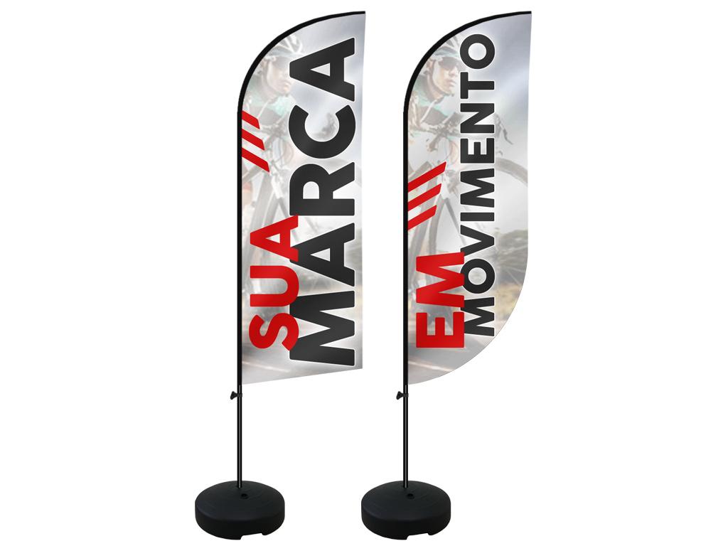 Bandeira banner, wind banner, wind flag ou flag banner