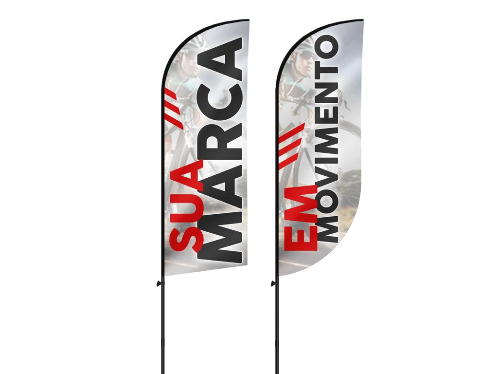 Bandeira wind banner sem base