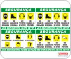 Placas de identificação em PVC