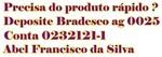 Postagem rápida, Deposite Bradesco ag.0025 c/c 0232121-1