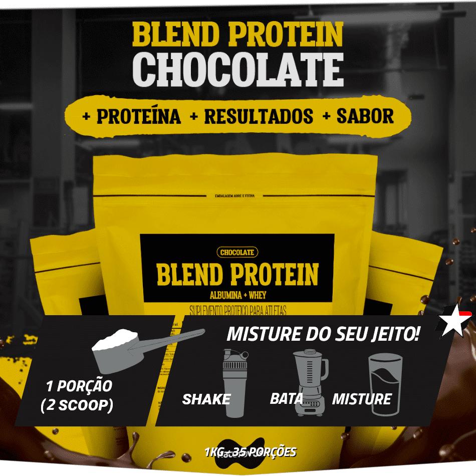 Blend Protein Saborizados Naturovos em sachê de 1kg rende 35 porções