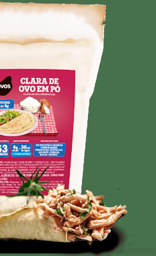 A Clara de ovo em pó desidratada Naturovos é ideal para fazer crepiocas