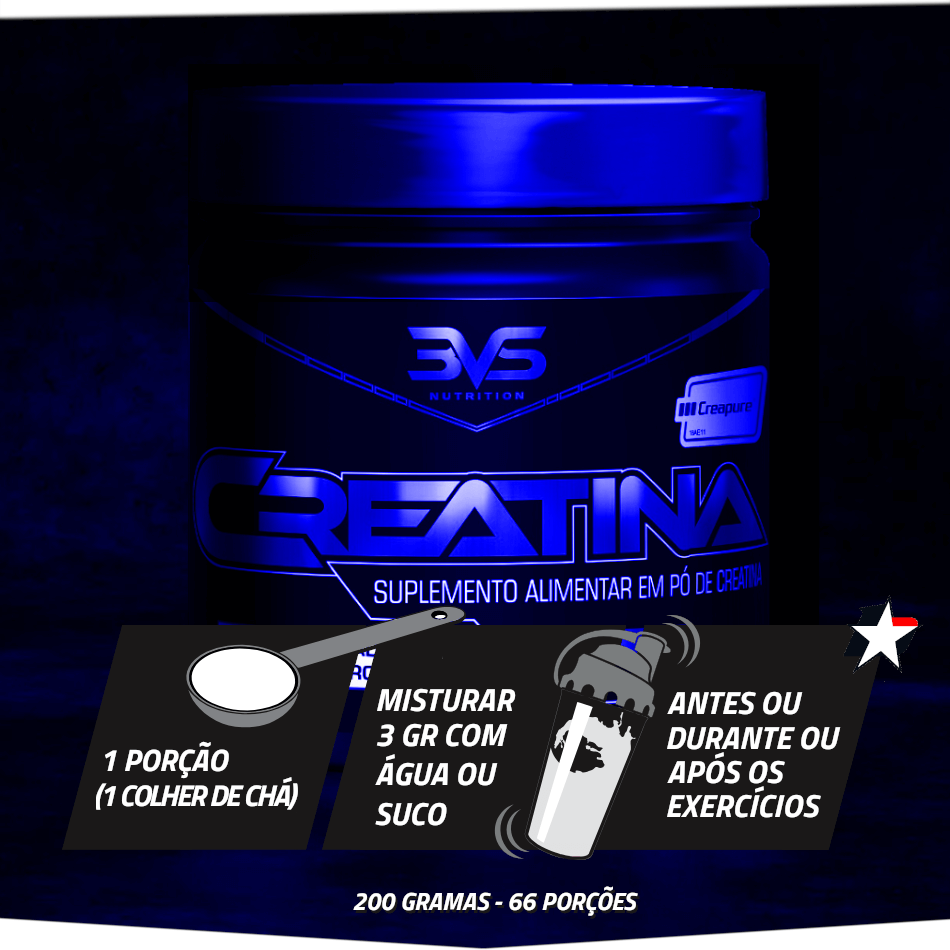 creatina powder 3vs