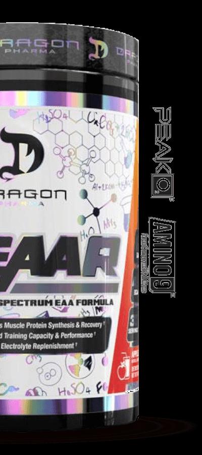 dr feaar dragon pharma contém peak2o e amino 9 em sua composição