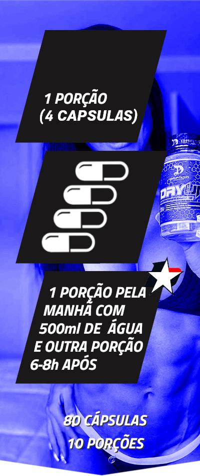 dryup dragon pharma vem com 80 cápsulas e rende 10 porções