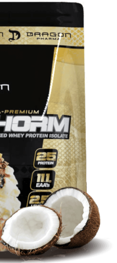 isophorm whey dragon pharma refil no sabor coco