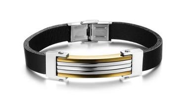 pulseira-de-couro-e-aco-com-filetes-banhados-a-ouro-18k
