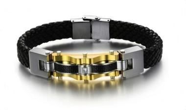 pulseira-masculina-couro-fibra-de-carbono-e-aco-com-banho-ouro