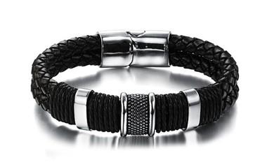 pulseira-masculina-de-couro-com-detalhes-em-aco-inox