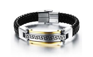 pulseira-masculina-de-couro-com-detalhes-em-banho-de-ouro-18k