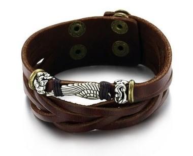pulseira-masculina-de-couro-legitimo-com-aplique-asa-de-anjo