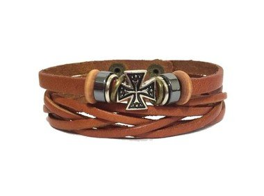 pulseira-masculina-de-couro-trancado-com-cruz-malta-em-metal