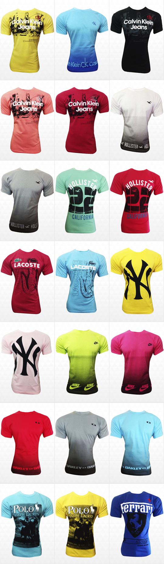 0d90c57dba537 Kit com 50 camisetas masculinas