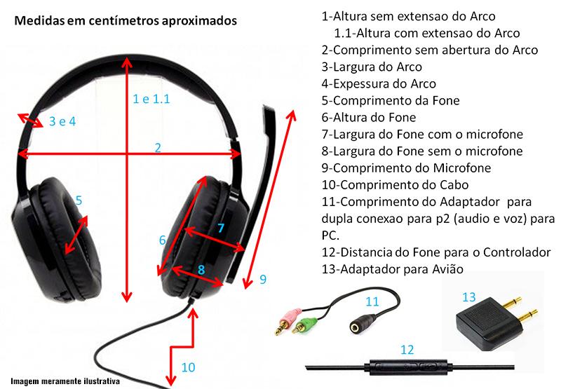 Medidas Fone de Ouvido Edifier H840